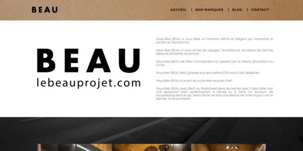 BEAU PROJET – Site Internet