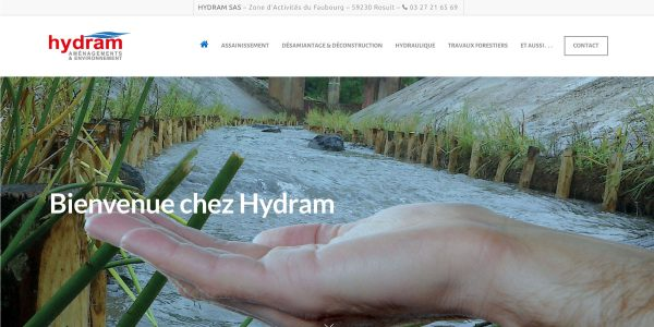 Hydram – Site Internet
