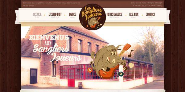 Les Sangliers Joueurs – Site Internet