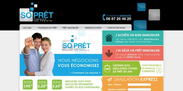 SO PRÊT – Site Internet
